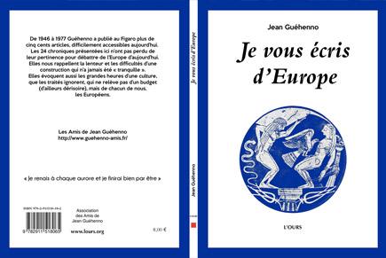 Publication de « Je vous écris d'Europe »
